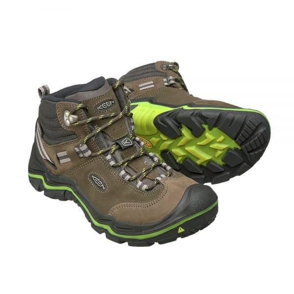 נעלי Keen לנשים | Wanderer Mid WP חום/פס צהוב