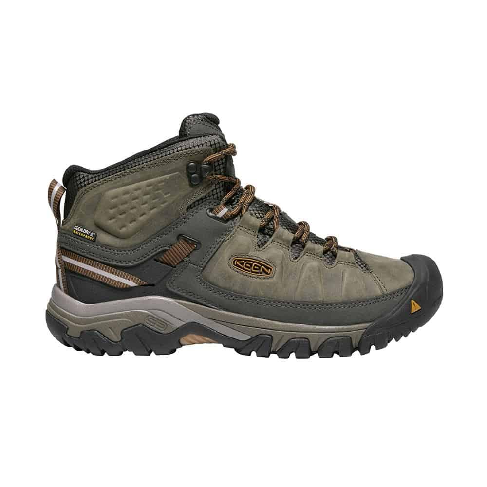 נעלי Keen לגברים | Targhee III Mid אפור/פס חום